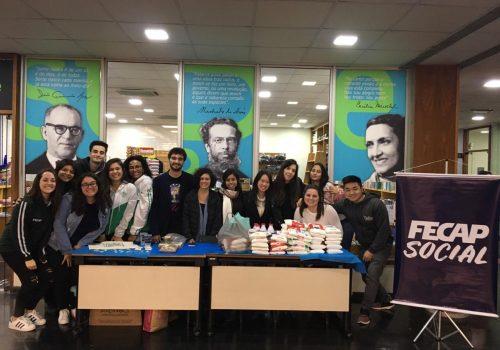 Trote Solidário arrecada meia tonelada de alimentos para doação